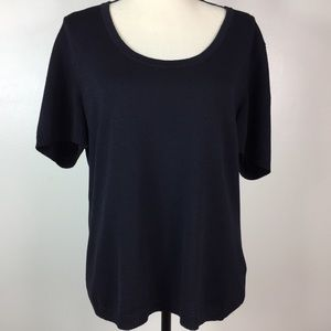 St. John Sport Wool blend blouse Scoop Neck Rayon
